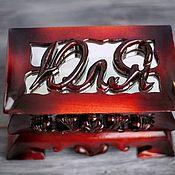 Именные сувениры ручной работы. Ярмарка Мастеров - ручная работа Именная шкатулка из дерева. Handmade.