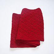 Аксессуары handmade. Livemaster - original item Snudy: Snood in two turns cherry color. Handmade.