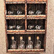 Для дома и интерьера ручной работы. Ярмарка Мастеров - ручная работа Полка для специй (с баночками). Handmade.
