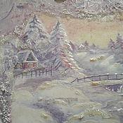 """Картины ручной работы. Ярмарка Мастеров - ручная работа Панно """"Зимние сумерки"""". Handmade."""