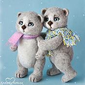 Куклы и игрушки ручной работы. Ярмарка Мастеров - ручная работа Валяные мишки Тоша и Туся. Handmade.