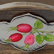 """Для дома и интерьера ручной работы. Ярмарка Мастеров - ручная работа Сухарница конфетница """"Шиповник""""уютный дом розовый коричневый. Handmade."""