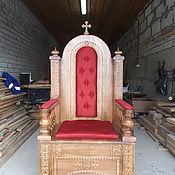 Кресла ручной работы. Ярмарка Мастеров - ручная работа Архиерейский трон на горнее место. Handmade.