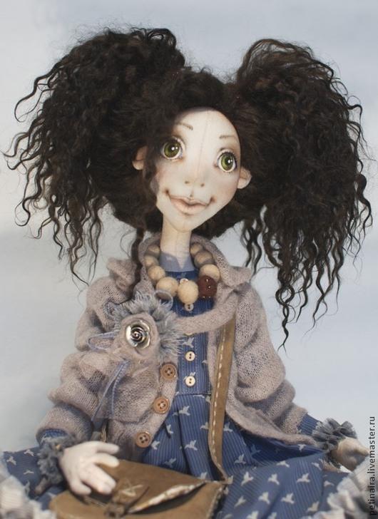 Коллекционные куклы ручной работы. Ярмарка Мастеров - ручная работа. Купить Текстильная кукла. Handmade. Бежевый, кукла в подарок, рюши