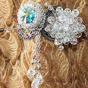 Украшения handmade. Livemaster - original item Brooch, brooch vintage silver plated Northern lights. Handmade.