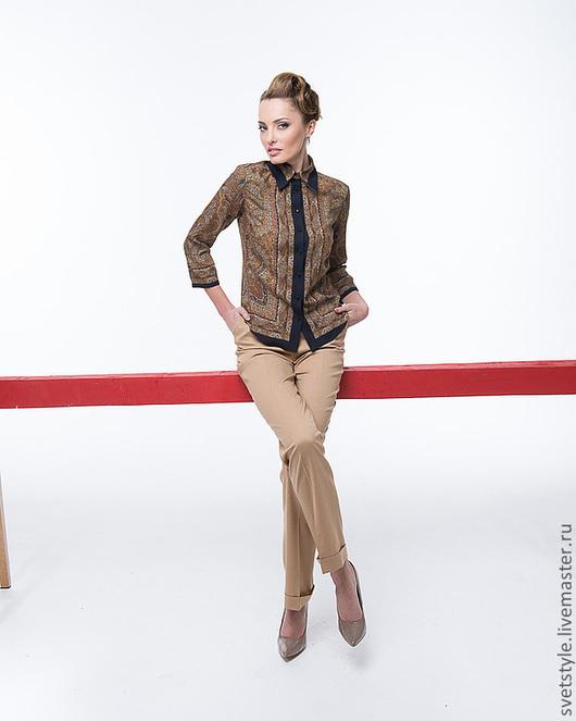 Купить стильную блузку. Пошив блузки на заказ. Ярмарка Мастеров - ручная работа. Дизайнер Лана Морозова.