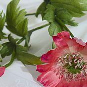 Цветы и флористика handmade. Livemaster - original item Red poppy from Japanese silk. Handmade.