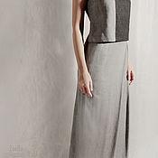Одежда handmade. Livemaster - original item Long skirt tweed and denim with the smell. Handmade.