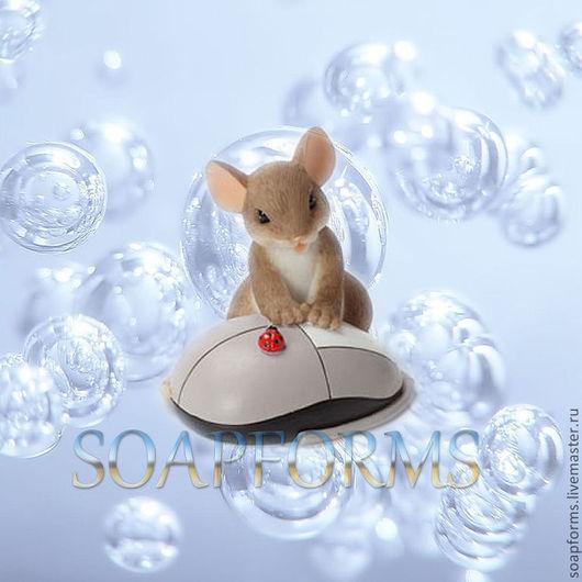 """Силиконовая форма для мыла """"Мышка с мышкой"""" 3D"""