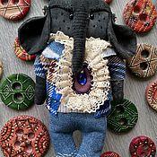 Мягкие игрушки ручной работы. Ярмарка Мастеров - ручная работа Чердачный Слон. Путешественник. Handmade.
