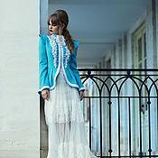 Одежда handmade. Livemaster - original item Designer retro turquoise (blue) coat - Gibson`s girl. Handmade.