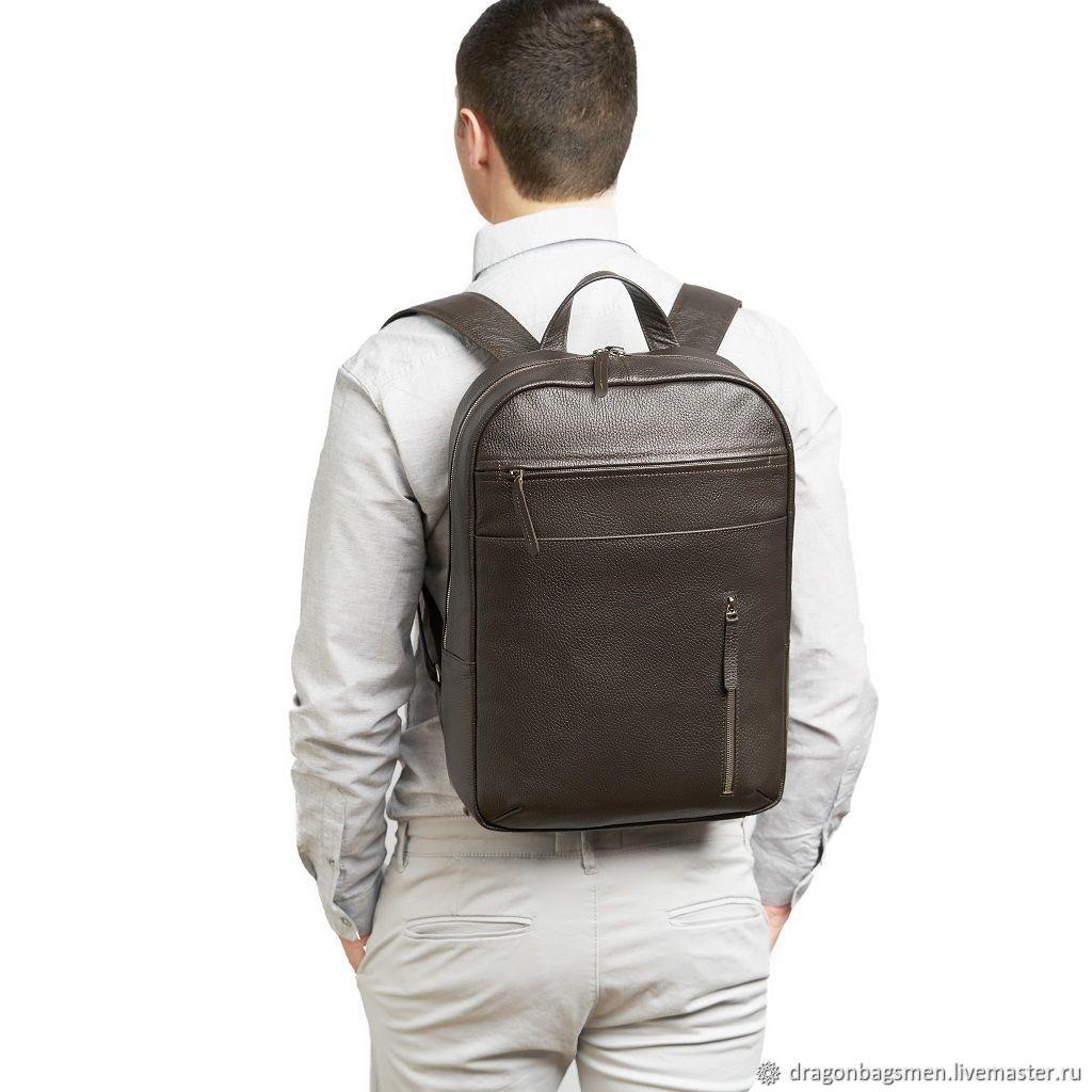 Men's leather backpack ' Marko', Men\\\'s backpack, Yaroslavl,  Фото №1