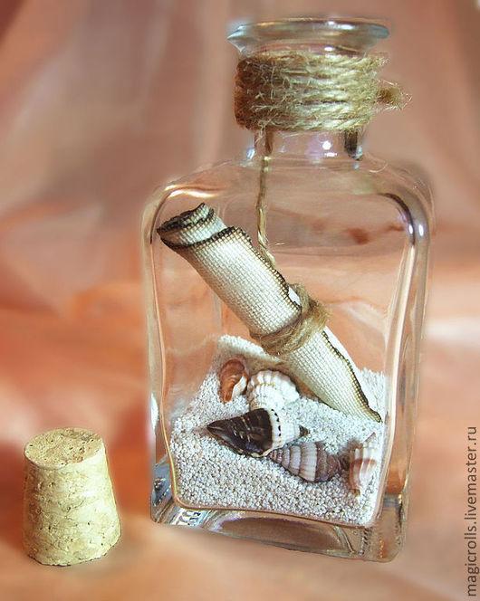 """Уменьшенная """"пиратская"""" бутылочка из-под рома станет оригинальным обрамлением для Вашего поздравления, приглашения или даже признания."""