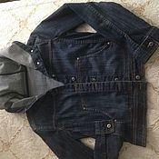 Одежда винтажная ручной работы. Ярмарка Мастеров - ручная работа Винтажная одежда: винтаж джинсовая -курточка. Handmade.