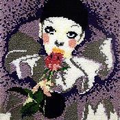 Картины и панно ручной работы. Ярмарка Мастеров - ручная работа Грустный влюбленный Пьеро.... Handmade.
