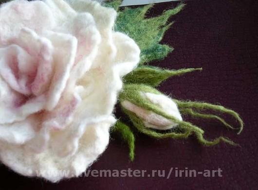 Броши ручной работы. Ярмарка Мастеров - ручная работа. Купить Принцесса. Handmade. Розы, бледно-розовый