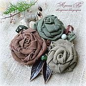 Украшения handmade. Livemaster - original item Brooch of fabric