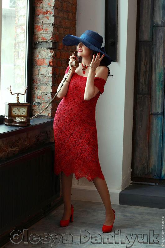 """Платья ручной работы. Ярмарка Мастеров - ручная работа. Купить Платье """"Lady in Red"""". Handmade. Платье летнее"""