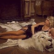 Для дома и интерьера ручной работы. Ярмарка Мастеров - ручная работа Шкура белого льва. Handmade.