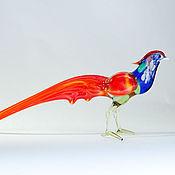 Для дома и интерьера handmade. Livemaster - original item Glass figurine bird pheasant Qin Chau. Handmade.