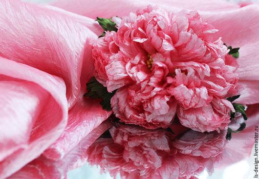 """Ткань для цветов ручной работы. Ярмарка Мастеров - ручная работа. Купить Ткань для создания цветов  Kenzo """"Коралл"""". Handmade."""