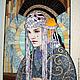 """Фэнтези ручной работы. Ярмарка Мастеров - ручная работа. Купить Мозаичное панно """"Падме"""". Handmade. Разноцветный, картина для интерьера, поталь"""
