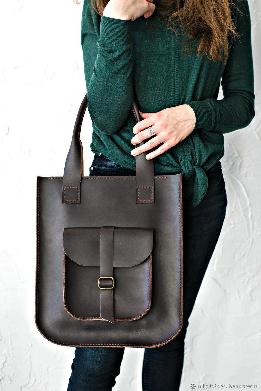 Women's leather brown bag SORA, Classic Bag, St. Petersburg,  Фото №1