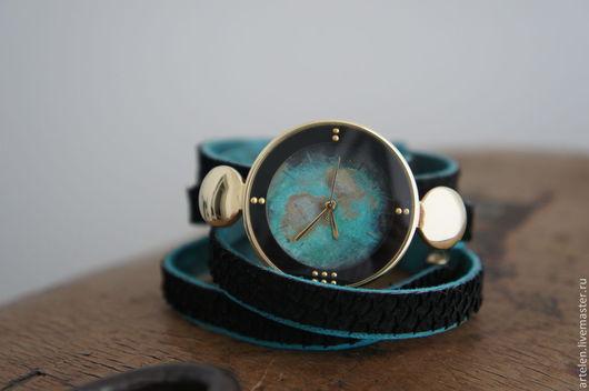Часы. Часы наручные. Часы наручные женские, часы бирюзовые, часы винтаж. Часы под золото. Бирюза.