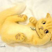 Куклы и игрушки handmade. Livemaster - original item Kitten Ray felted toy. Handmade.
