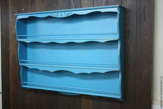 Мебель ручной работы. Ярмарка Мастеров - ручная работа. Купить Полка Морской Бриз. Handmade. Голубой, полка, синий, интерьер