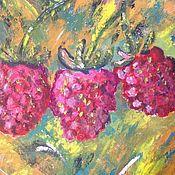 Картины и панно handmade. Livemaster - original item Three friends of raspberries. Handmade.