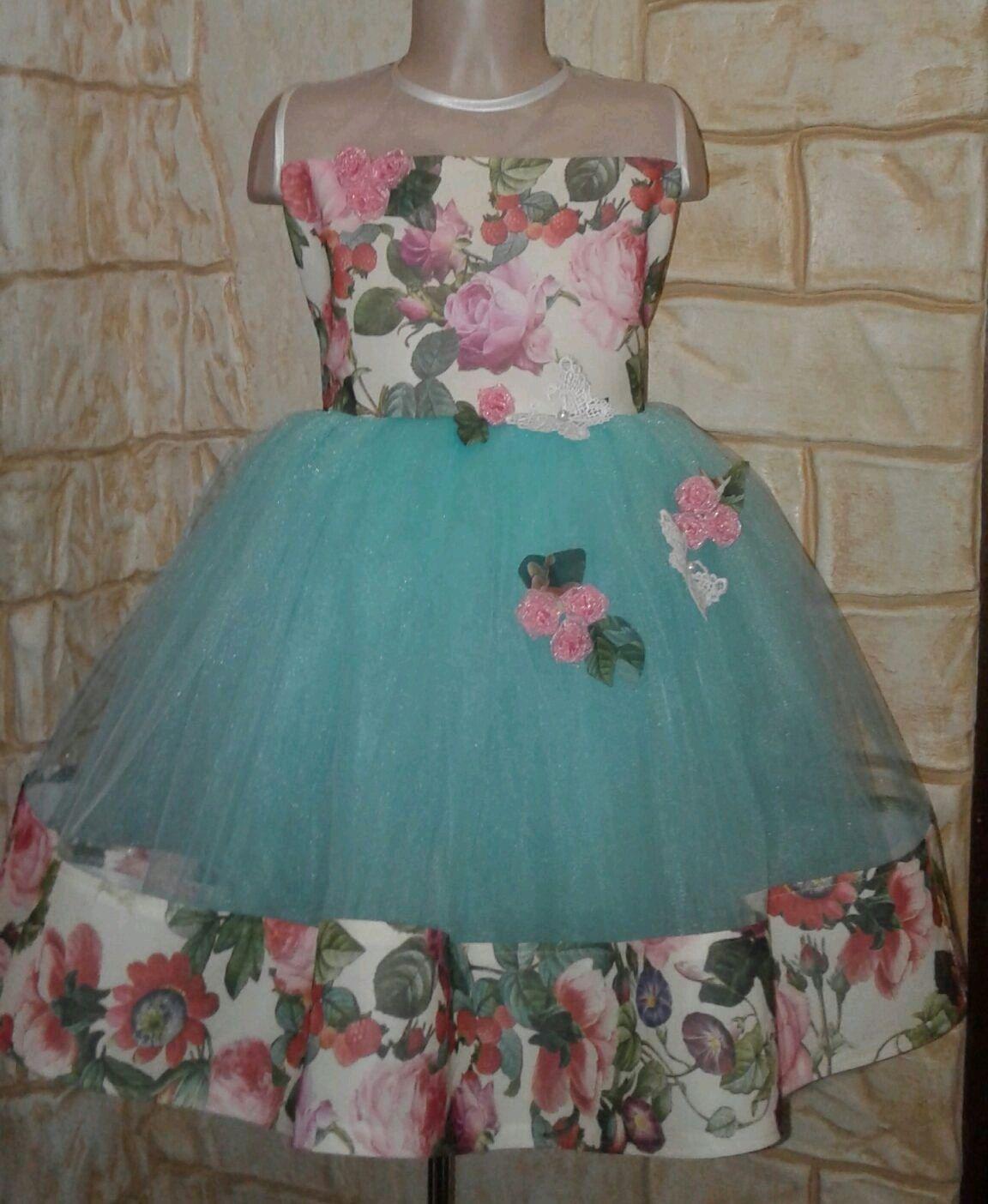 Платье с цветами, Платье, Пятигорск,  Фото №1