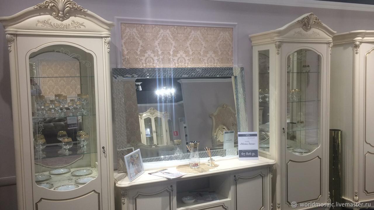 Зеркало в мозаичной раме, серебряное, Зеркала, Краснодар,  Фото №1