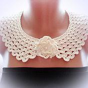 Аксессуары handmade. Livemaster - original item Lace collar choker with brooch-flower