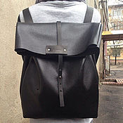 Сумки и аксессуары handmade. Livemaster - original item Leather black backpack. Handmade.