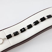 Украшения handmade. Livemaster - original item Elena bracelet of black onyx copyright decoration. Handmade.