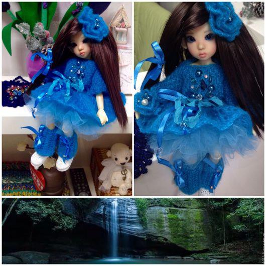 """Одежда для кукол ручной работы. Ярмарка Мастеров - ручная работа. Купить """"Фея хрустального ручья"""" комплект одежды для куклы. Handmade."""