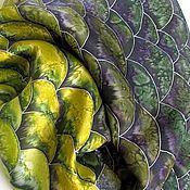 """Шарфы ручной работы. Ярмарка Мастеров - ручная работа Батик шарф """"Змея"""". Handmade."""