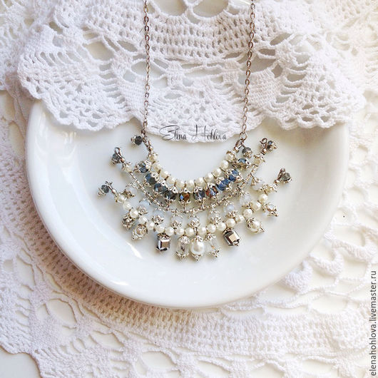"""Кулоны, подвески ручной работы. Ярмарка Мастеров - ручная работа. Купить Ажурный кулон """"white pendant"""". Handmade. Белый"""