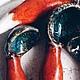Ложки ручной работы. Заказать Ложки-лисьи хвостики. Анастасия Морозова (doch-moryaka). Ярмарка Мастеров. Бирюзовый, Лисы, глазури