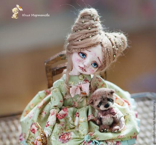 Коллекционные куклы ручной работы. Ярмарка Мастеров - ручная работа. Купить Принцесса Аннушка.... Handmade. Мятный, купить интерьерную куклу