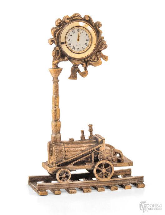 Часы для дома ручной работы. Ярмарка Мастеров - ручная работа. Купить Паровозик с часами. Handmade. Паровозик, старинный стиль, винтаж