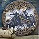 Часы для дома ручной работы. Ярмарка Мастеров - ручная работа. Купить Часы Штурм замка. Handmade. Разноцветный, настенные часы