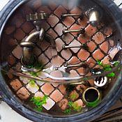 Украшения ручной работы. Ярмарка Мастеров - ручная работа Затопленный мир в корпусе старых наручных часов. Handmade.