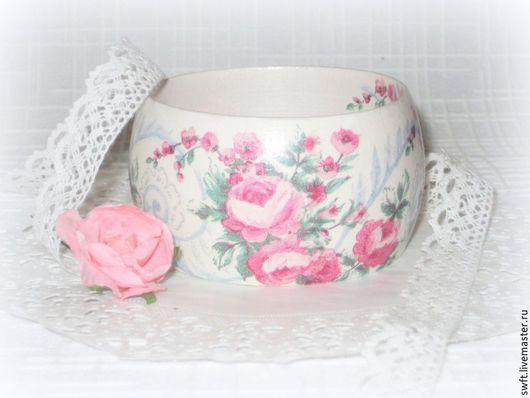 розовый белый романтичный женский недорогой деревянный браслет серьги роза кулон подарок что подарить девушке женщине сестре подруге маме жене 8 марта день рождения дерево