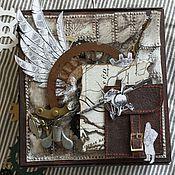 Для дома и интерьера ручной работы. Ярмарка Мастеров - ручная работа Стим-панк коробочка для подарочного конверта. Handmade.