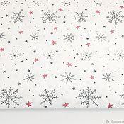 Материалы для творчества handmade. Livemaster - original item 100% cotton, Poland, snowflakes with glitter. Handmade.