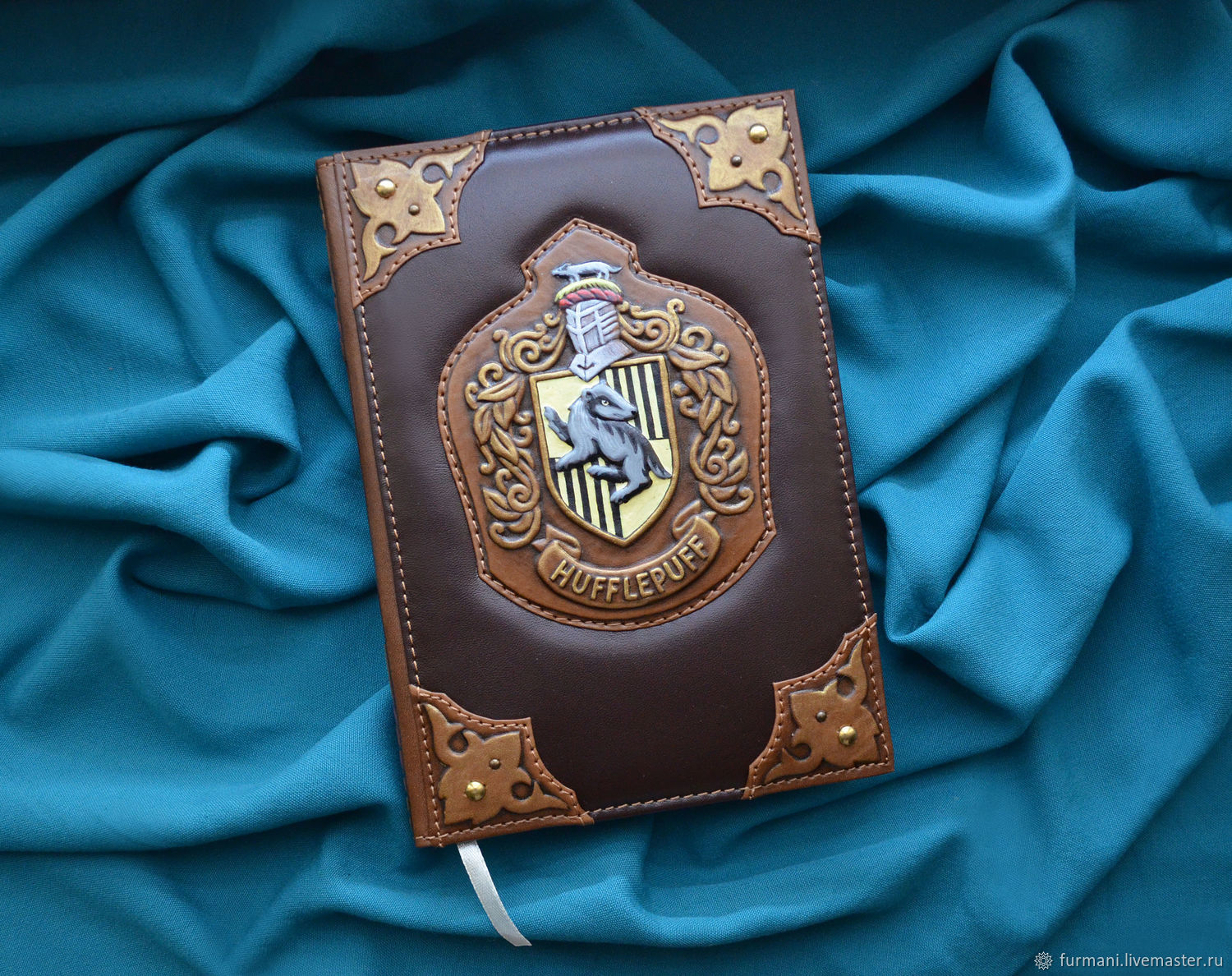 "Leather notebook ""HUFFLEPUFF"", Notebooks, Krivoy Rog,  Фото №1"