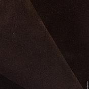 Материалы для творчества ручной работы. Ярмарка Мастеров - ручная работа Замша натуральная (темно-коричневый). Handmade.