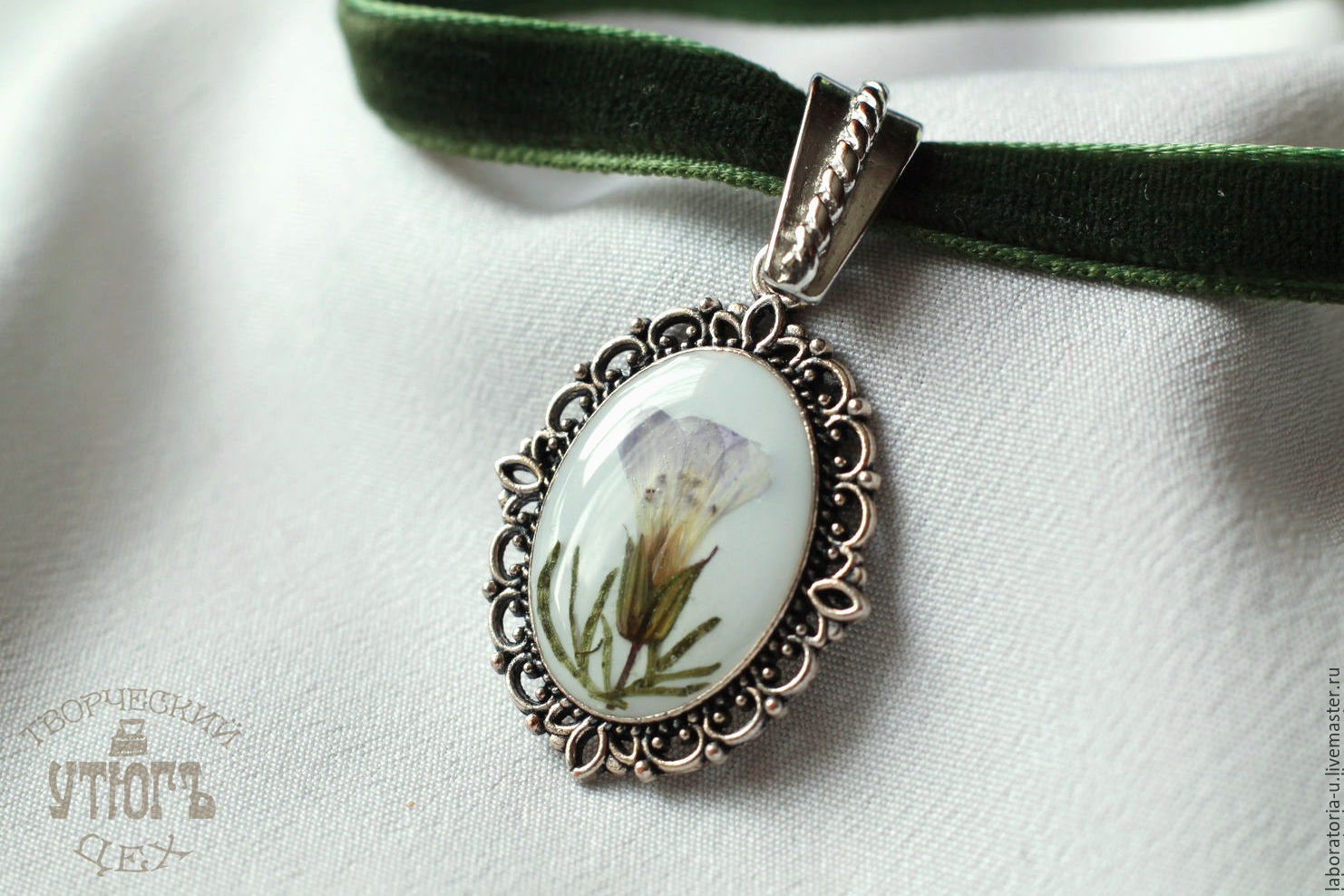 Chalker. Earrings with real flowers. Jewelry set, Jewelry Sets, Samara,  Фото №1